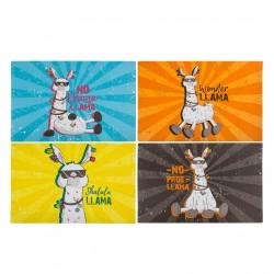 mantel individual llama