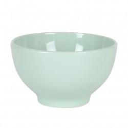 bol cerámica verde pastel