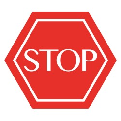 VINILO 20X18CM STOP