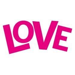 VINILO 20X18CM LOVE