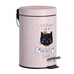 PAPELERA BAÑO CAT LOVER 3L