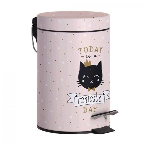 papelera baño gato