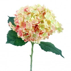 FLOR ARTIFICIAL HORTENSIA SALMON