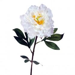 flor artificial peonia crema