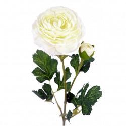 flor artificial ranunculo crema