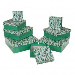 caja decorada carton cactus