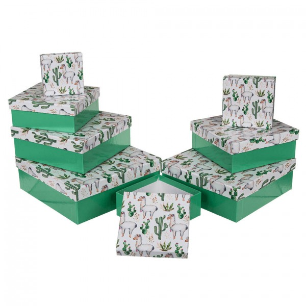 caja de cartón llama