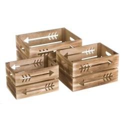 caja de madera flechas