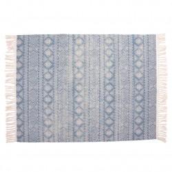 alfombra etnic azul