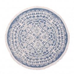 alfombra redonda azul
