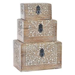 caja de madera etnica