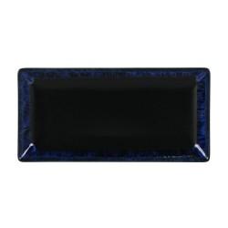 plato rectangular negro