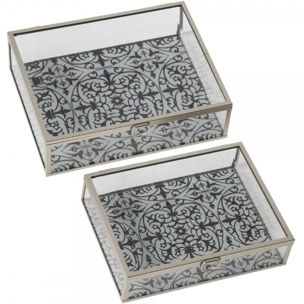 caja cristal decorativa