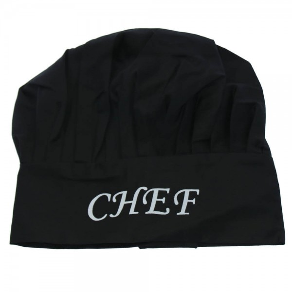 gorro cocinero negro