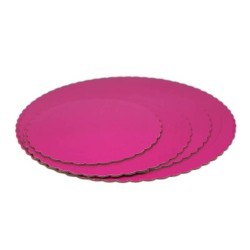 BASE 25CM 3MM ROSA REDONDA