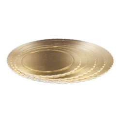 BASE 25CM 3MM ORO REDONDA