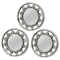 espejo redondo plata