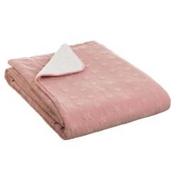 manta borrego rosa