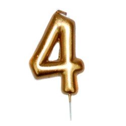 vela cumpleaños dorada 4