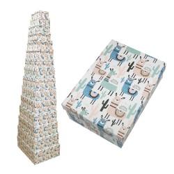 caja carton decorada llamas 1