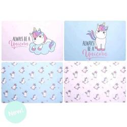 mantel individual unicornio