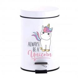 papelera baño unicornio
