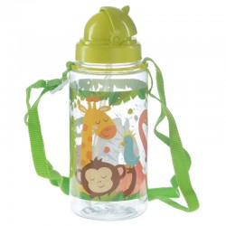 botella con pajita infantil