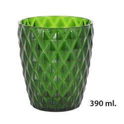 VASO 390ML VERDE DIAMOND