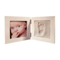marco con huella bebe