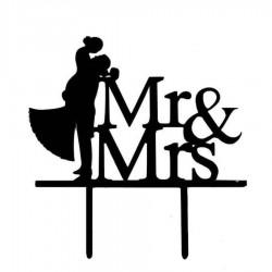 topper tarta mr&mrs