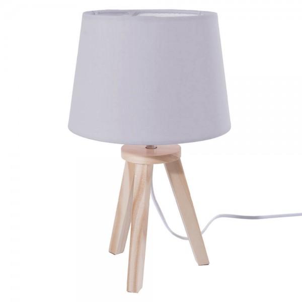 LAMPARA GRIS MADERA