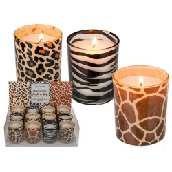 vela decorativa animal print