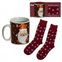 SET TAZA + CALCETINES SANTA