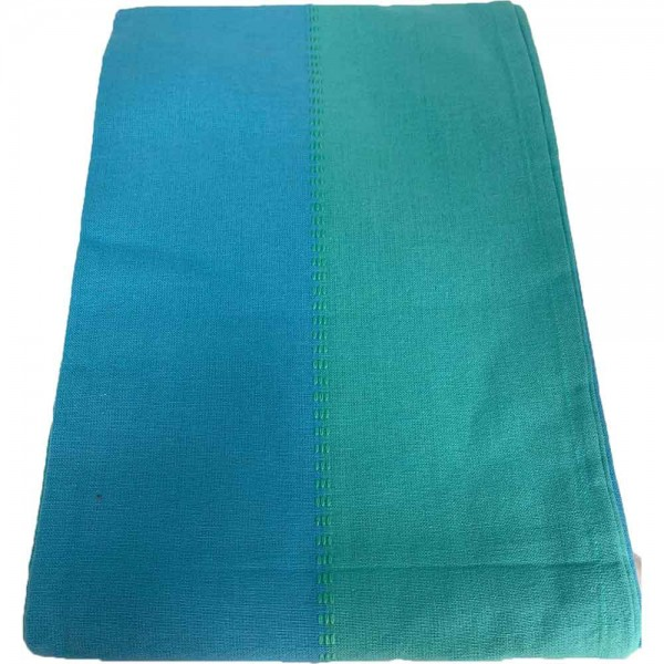 Mantel Azul/ verde 150x150cm 100% Algodón