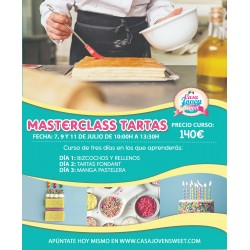 MASTER TARTAS 3 DIAS  SÁBADOS 5,12 Y 19 SEPTIEMBRE