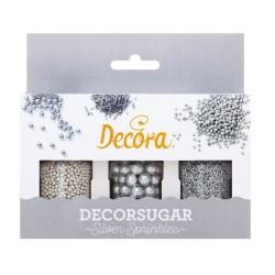 decoracion de azucar plata