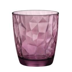 vaso de cristal purpura