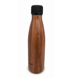 BOTELLA MADERA DOBLE PARED ACERO
