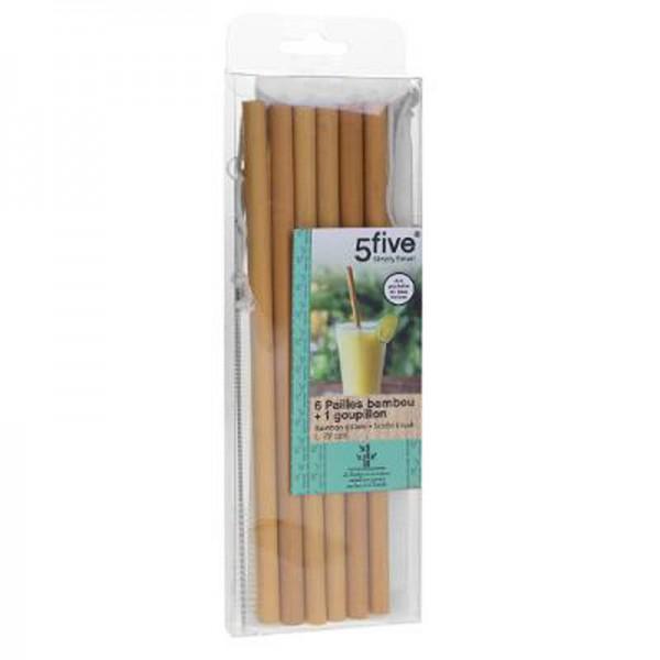 pajitas de bambu