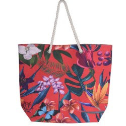 BOLSA DE PLAYA - 53X42CM TROPICAL 3 COLORES