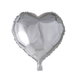 globo corazon plata