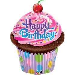 globo cupcake cumpleaños