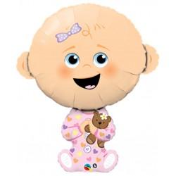 globo bebe rosa