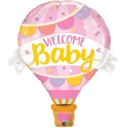 globo baby shower rosa
