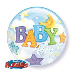 globo baby shower azul