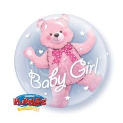 globo burbuja oso rosa