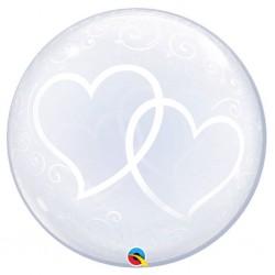 globo burbuja corazones