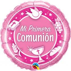 globo comunion rosa