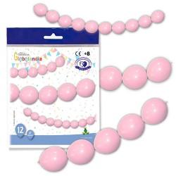 guirnalda globos rosas