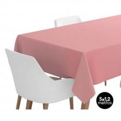 mantel de papel rosa